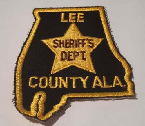Lee County Alabama AL US Police Patch Vintage
