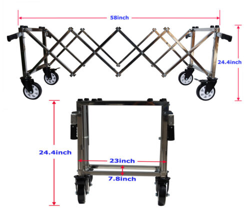 TECHTONGDA Funeral Church Stretcher Truck Sturdy Casket Stand Cart with 4 Handle
