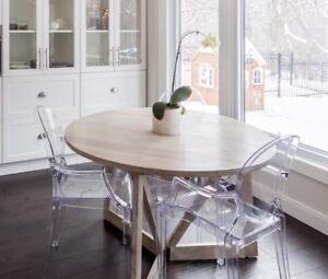Acacia wood doing dining table