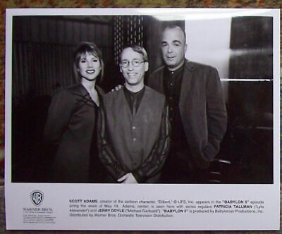 BABYLON 5 Orig WB TV Press Photo SCOTT ADAMS Creator DILBERT PAT & JERRY '97