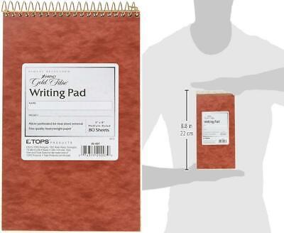 Ampad Gold Fibre Retro Writing Pad Red Cover Junior Legal 5 X 8 Ivory