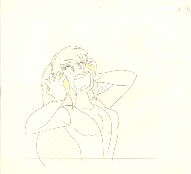 Anime Genga not Cel Urusei Yatsura #76