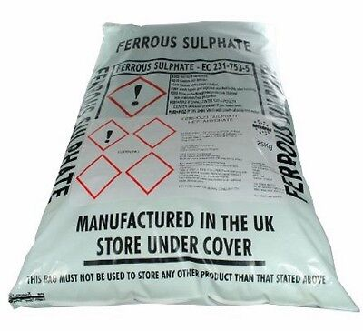 Iron Sulphate 50Kg  -Moss killler lawn Conditioner & Tonic Ferrous Sulphate Damp