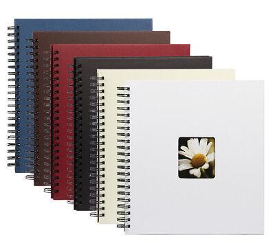 Fotoalbum Flair III in 30x30 cm 40 schwarze Seiten Spiral Foto Album