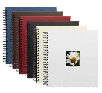 Flair III Spiralalbum 30x30 cm 40 schwarze Seiten Foto Album mit Bildausschnitt