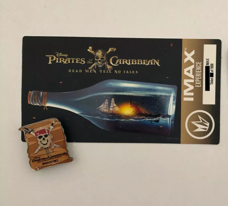 Disney's Pirates Of The Caribbean On Stranger Tides IMAX Movie Ticket Pin Buttkn
