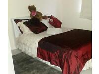 Double bed frame+ free mattress