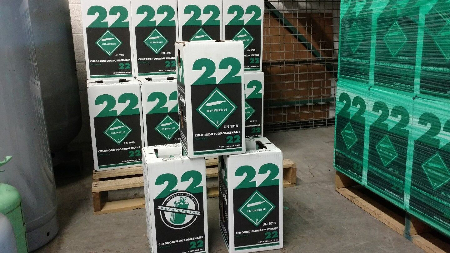 NEW R22 refrigerant 5 lb factory sealed Virgin made in FREE SAME DAY SHIPPING