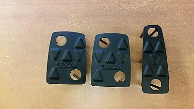 FORD FOCUS RS MK1 NEW PEDAL PAD RUBBER SET SPARCO BRAKE CLUTCH THROTTLE