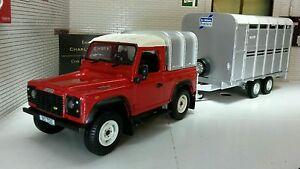 Land Rover Defender SWB TDi 90 Ifor Williams & Trailer 1:32 Scale Britains Model
