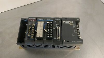 Direct Logic 305 Koyo D3-05b-1110220v Ac Rack With 4 Modules 3d