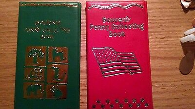 One Red & One Green Elongated Penny Souvenir Book With 2 FREE Pressed Pennies!!