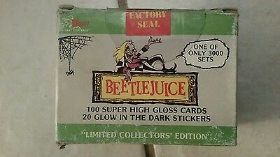 1990 Dart BEETLEJUICE COMPLETE Card Set FACTORY SEALED Rare #1-100 + 20 Stickers