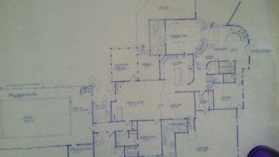 Architectural Plans Custom Designed Home Never Built Two Story Indoor Pool 1980
