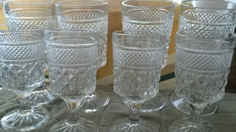 wexford wine and beverage glass lot of 9 glasses