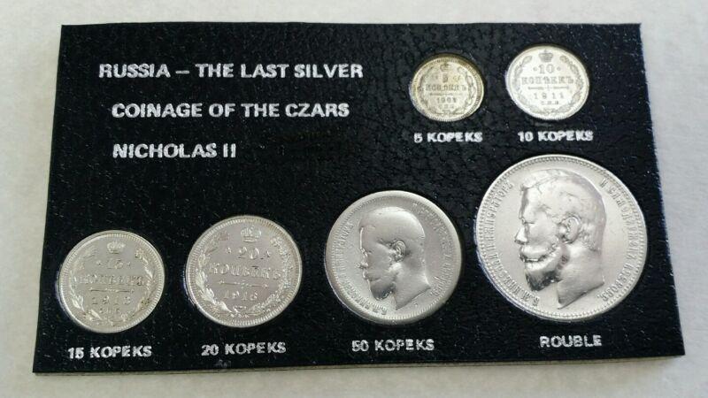 1896 - 1916 Russia, The Last Silver Coinage Of The CZARS NICHOLAS II.