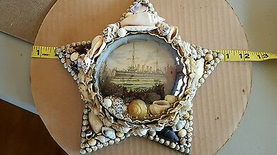 Sailor Valentine - Estate Sale - Item 40 Antique Victorian Sea Shell Art