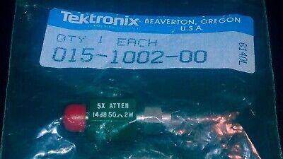 Tektronix Fixed Attenuator New 5x14db 50 Ohm 2w 015-1002-00 Sealed Orig. Bag