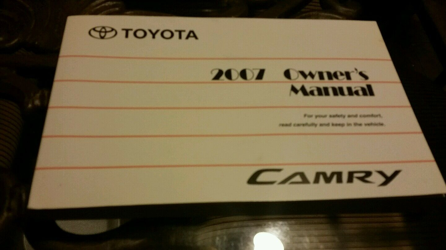 ... Toyota Camry Owners Manual Set with Case 2 of 8 ...