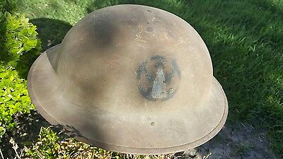 """WWI US Army AEF M1917 Helmet Hand Painted - 89th Inf Div 178th rolling """"W"""" Rare"""