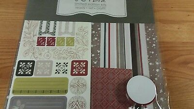 Christmas Scrapbook Layout Kit For Two 12