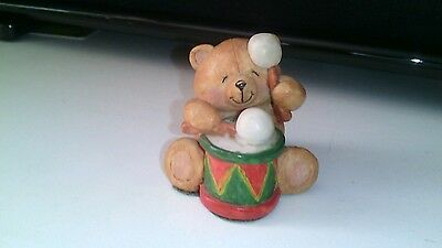 Vintage Forever friends bear ~ drummer figure ornament