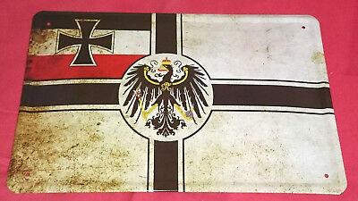 Blechschild 20x30 Reichskriegsflagge Deutsches Kaiser Reich Weltkrieg 1 Fahne