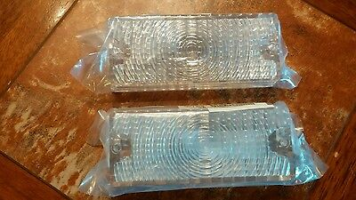 69 70 Chevy C10 C20 C30 Pickup Truck Clear Park Light Lamp Lenses Pair/Set Qty2
