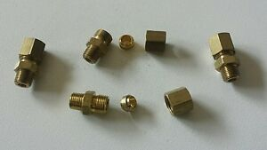 10 pcs  Pneumatic Air Compression Brass Fitting 1/8 BSP Male Thread To 1/4
