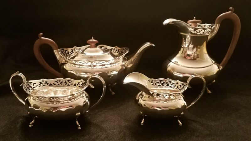 ENGLISH STERLING SILVER TEA & COFFEE SERVICE