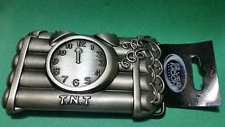 SILVER MOON CONCEPT 2005 T.N.T. Wired Dynamite To Alarm Clock Belt Buckle NEW