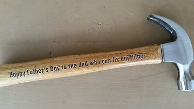 Personalized engraved hammer Father