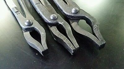 3 New Picard Blacksmith Mandrel Jaw Tongs forge anvil tool made heavy duty metal