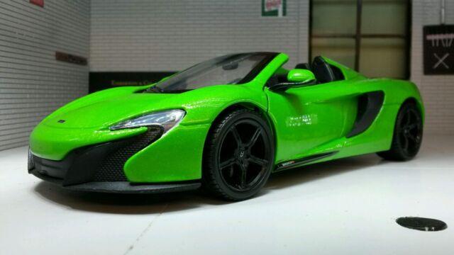 G LGB 1:24 Scale McLaren 650S Spider Detailed Motormax Diecast Model Car 79326