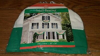 Nantucket  small Irish flag color bunting new St Patrick's Day Ireland  Celtic - Irish Flag Bunting
