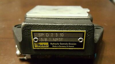 Bottom-ports (Parker SP D 2 3 010 Subplate, Bottom Ports, A6DIN23340 *FREE SHIPPING*)