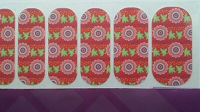 "GIFT, Retired, NEW,1/2 SHEET JAMBERRY NAIL WRAPS ""Nepal Relief"" Valentine's day"