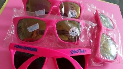 pink passion everclear sunglasses  lot of 4 brand be (Pink Circle Sunglasses)