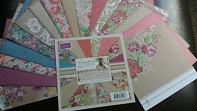 "Lovely FLORAL DELIGHT  48 page book of 6"" × 6""  ASSORTED PAPERS  by sara davis"