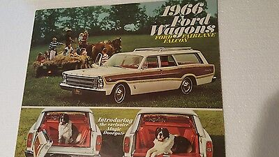 1966 Ford Wagons Ford Fairlane Falcon 16 Page Booklet.