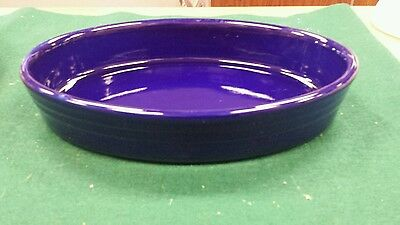JEWELWARE BLUE OVAL SERVING BOWL CASSEROLE Workshop of Gerald E. Henn Pottery