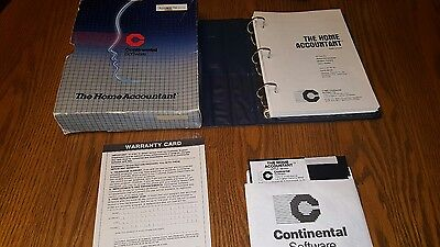 1982 Apple II IIe Continental Software Home Accountant FREE SHIPPING