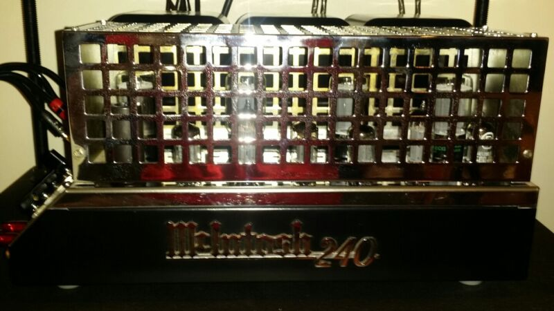 Mcintosh Mc240 Stereo Tube Amp W/rare Chrome Tube Cage-reconditioned!!