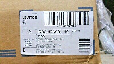 Leviton 47690-110 110 Type Connector Phone Distribution Wiring Block 89 Qty 2 110 Type Wiring Block