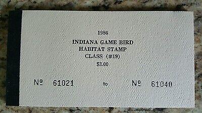 Vintage Indiana Duck Stamps Indiana Game Bird Habitat Stamp Class (#19)