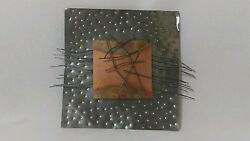 Handcrafted Modern Abstract Metal and Copper Wall Decor