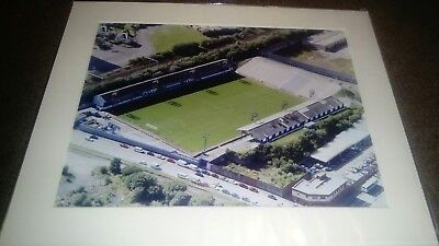 """MORTON FC CAPPIELOW MOUNTED AERIAL PHOTOGRAPH 12X10"""""""