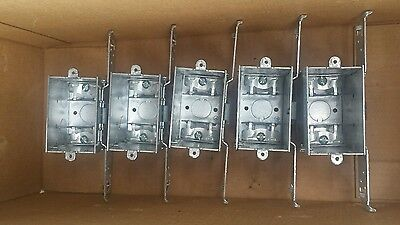 Lot Of 5 Raco 574 Switch Electrical Box 2-34 Deep Gangable Brand New Lqqk