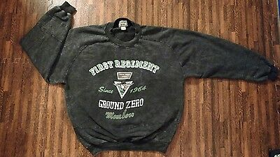 Ground Zero -First Regiment Vintage Sweatshirt Iron Bird Unit -Size Large Gray