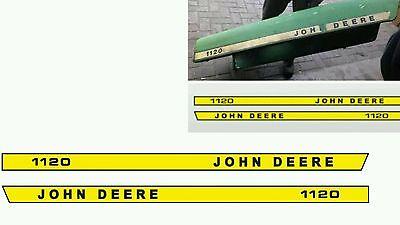 John Deere 1120 Aufkleber Schriftzug für Motorhaube Traktor Schlepper JD